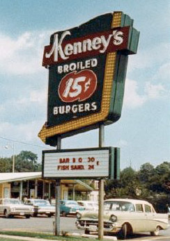 Kenneys Drive-In Road Sign